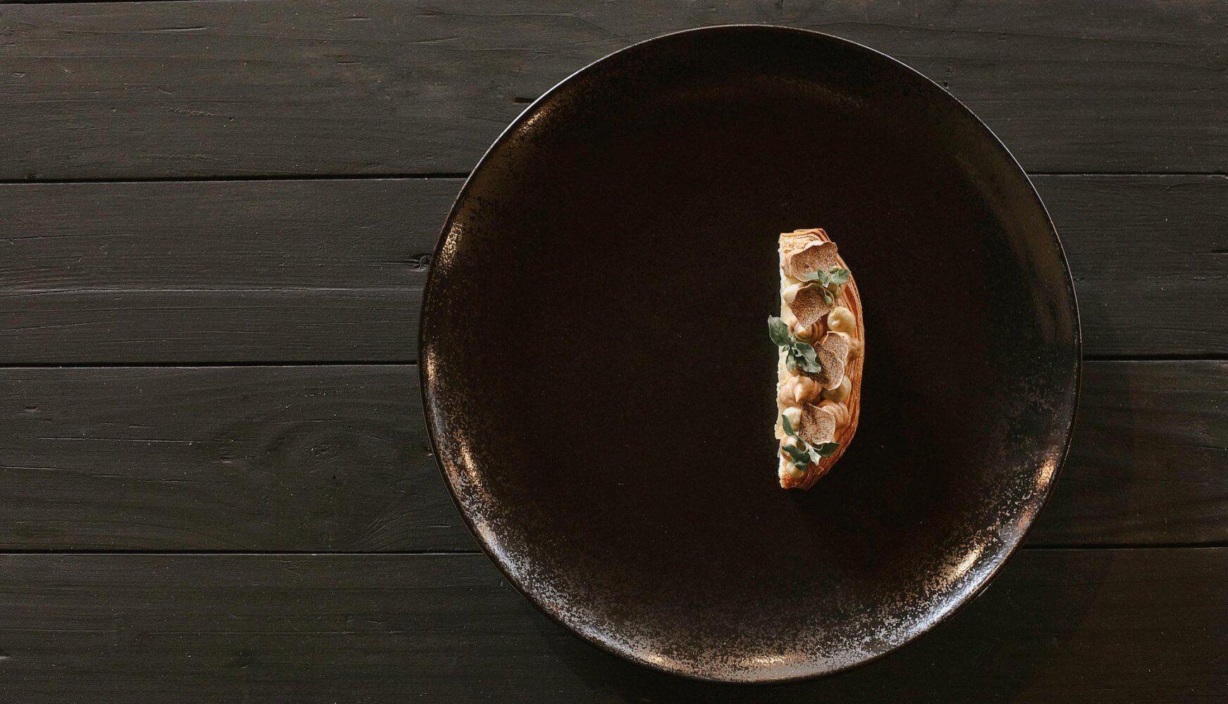mille feuille, jajčevec in črni tartuf